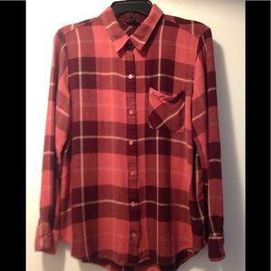 A.N.A. Plaid shirt - XL - rayon